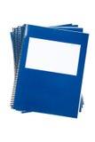Blue school textbook Stock Image
