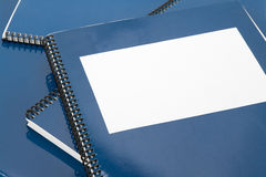Blue school textbook. Notebook or manual Royalty Free Stock Photo