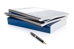Blue school textbook Royalty Free Stock Image