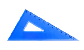Blue school triangle isolated Stock Image
