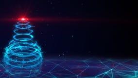 Blue sci-fi christmas tree Stock Photography