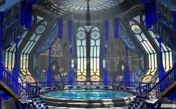 Blue Sci-Fi interior Stock Image
