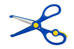 Blue scissors Royalty Free Stock Photo