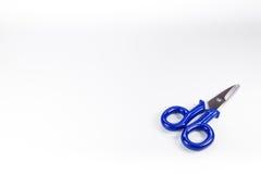 Blue scissors Stock Image