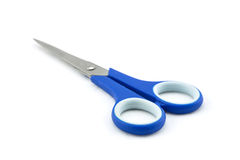 Blue scissors Royalty Free Stock Image