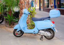 Blue scooter Stock Photo