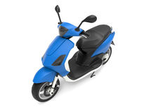 Blue scooter. 3D rendered illustration of a blue scooter isolated on a white background Royalty Free Stock Image