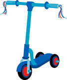 Blue Scooter Royalty Free Stock Photos