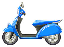 A blue scooter. Illustration of a blue scooter on a white background Royalty Free Stock Images