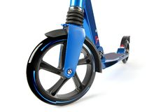 Blue Scooter isolation Stock Images
