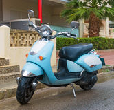 Blue scooter. Royalty Free Stock Photos