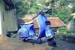 Blue Scooter Retro. Unique photo of blue scooter retro Stock Photography