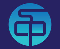Blue SCP Logo Design. Aı 10 Supported Vector Illustration