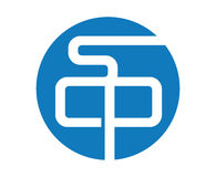 Blue SCP Logo Design. Aı 10 Supported Stock Images