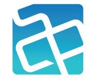 Blue SCP Logo Design. Aı 10 Supported royalty free illustration
