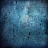 Blue scratched  grunge background Stock Photos