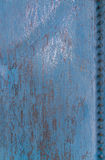 Blue scratched metal background texture Stock Photography