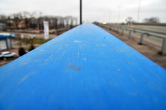 Blue scratchy surface Stock Photography