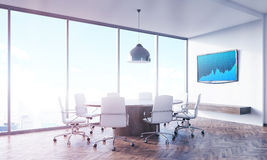Blue screen conference room stock illustration