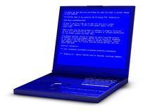 Blue screen of death. A problem has been detected on notebook Royalty Free Stock Photos