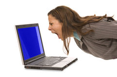 Blue screen of death:  Stock Photo