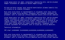 Blue Screen of Death. (BSOD). System Crash Report Background. Vector Illustration Stock Photos