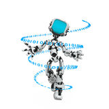 Blue Screen Robot, Code Royalty Free Stock Photos