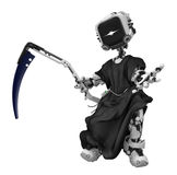 Blue Screen Robot, Grim Reaper Stock Photos