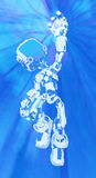 Blue Screen Robot, Light Ball Royalty Free Stock Photo