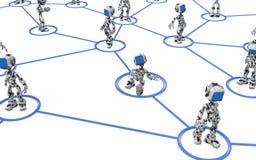 Blue Screen Robot, Line Links Stock Images