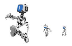 Blue Screen Robot, Run Royalty Free Stock Photography