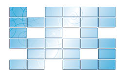 Blue screens with tracery and gradient - eps Stock Images