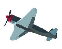 Blue screw plane Stock Photos