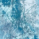 Blue scribble background vector Stock Images