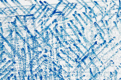 Blue  scribbles on white background Royalty Free Stock Photo