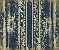 Blue scroll-work grunge wood stripes Royalty Free Stock Image