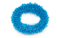 Blue scrunchies for hair isolated Stock Photo