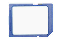 Blue SD memory card isolated on white background Stock Images