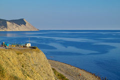 Blue sea. Mountains and the Black sea in Russia Royalty Free Stock Photo