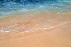Blue Sea. The beautiful blue sea washing ashore on Maui Royalty Free Stock Images