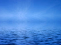 Blue sea. Abstract Peaceful Blue sea background vector illustration