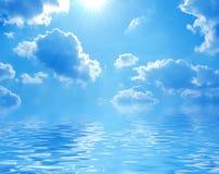 Blue sea. Blue lagoon a bright sunny day royalty free stock photo