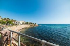 Blue sea in Alghero coast Royalty Free Stock Photography