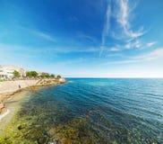 Blue sea in Alghero coastline Royalty Free Stock Images