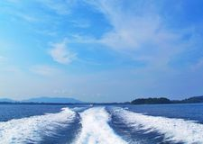 The blue sea in Andaman sea Thailand Royalty Free Stock Image