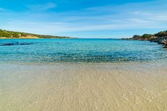 Blue sea in Andreani cove in Caprera island. Sardinia Royalty Free Stock Images
