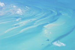 Blue sea around The Bahamas. Royalty Free Stock Photography