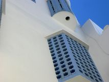 Blue Sea Assilah city summer stock image