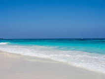 Blue Sea Background. A blue clear sky and clear sea on a sunny day, Thailand royalty free stock image