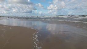 Blue sea. Big white clouds dark sea Stock Photo